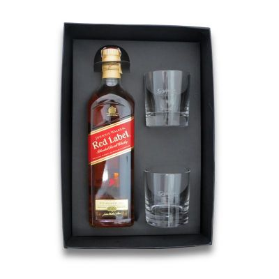 Kit red label com 2 copos