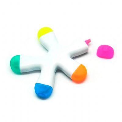 allury-gifts - Caneta marca texto Splash com 5 Cores