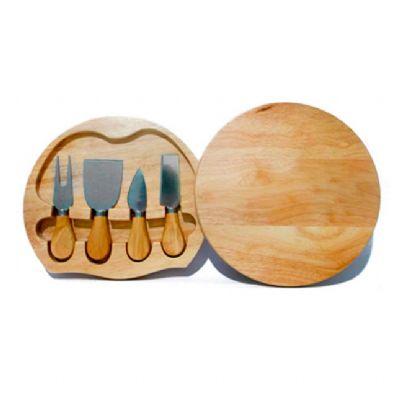 allury-gifts - Kit queijo 4 peças + estojo