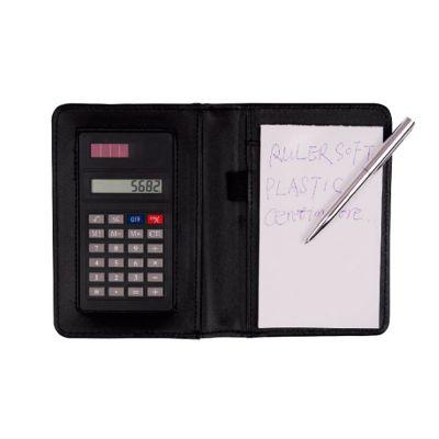 Allury Brindes - Calculadora com porta-bloco de anotações