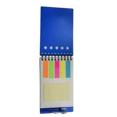 Bloco de anotações PVC com sticky notes - Allury Brindes