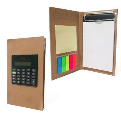 Bloco de anotações ecológico com calculadora e rascunho auto colante.