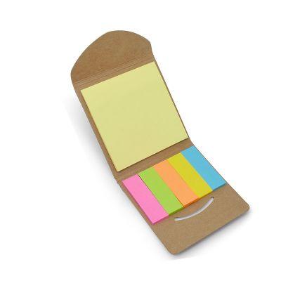 Bloquinho de anotações com sticky notes ecológico brindes corporativos.