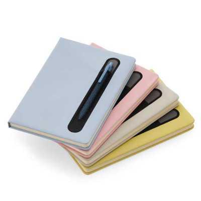 allury-gifts - Caderno de anotações com suporte para caneta Personalizado