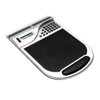 Calculadora plástica 8 dígitos com mouse pad brindes.