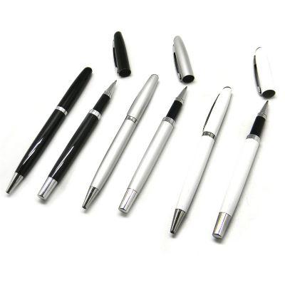 Conjunto de canetas metal.
