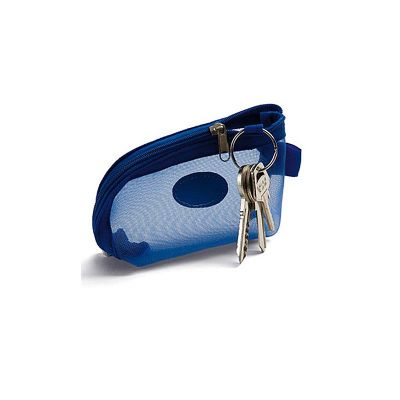Allury Gifts - Nécessaire em PVC e rede mosquiteiro. Ideal para colocar, moedas, batom e pequenos objetos. Possui argola para chave
