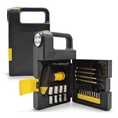 Allury Brindes - Lanterna com kit ferramenta 24 peças