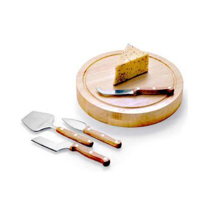 Kit queijo em bambu