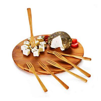 Conjunto para queijo e petiscos em bambu córdoba 7 peças - Allury Brindes