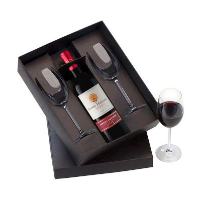 Allury Brindes - Kit vinho com 2 taças
