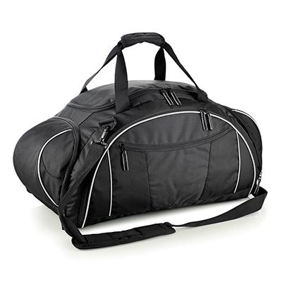 Allury Gifts - Mala esportiva ou de viagem em nylon e poliester customizada. alça de ombro ajustável, alça de mão, cinco divisões com zíper, capacidade 50 litros