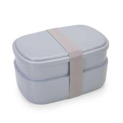 Marmita Plástica 2 Compartimentos + Talheres Personalizada
