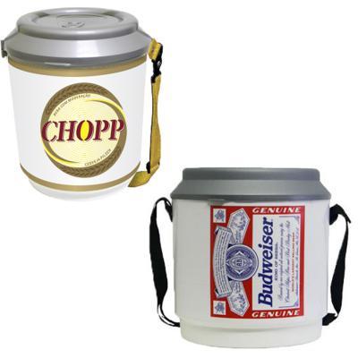 - Cooler personalizado estampada com capacidade p/ 24 latas. Impressão Digital a prova d água.