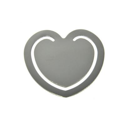 Allury Brindes - Marcador de Página Coração Metal 1