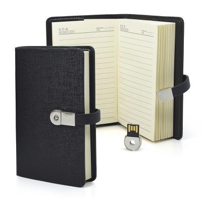 Kit Agenda com Pen Drive Removível 1 - Allury Brindes