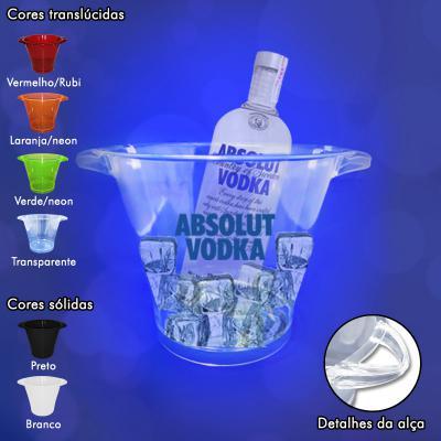 Allury Brindes - Balde de Gelo 4,5L Plástico em PP/PS Cristal 1