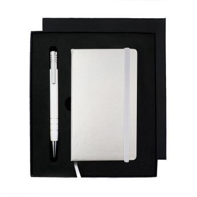 Kit Bloco de Anotações Prata e Caneta Personalizados 1