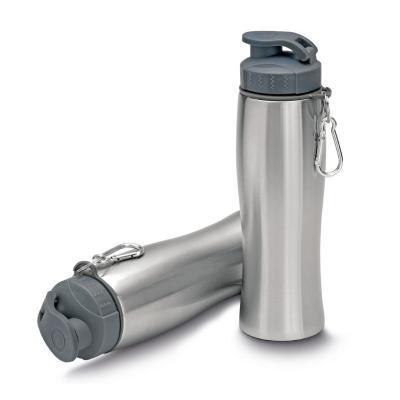 Squeeze em Aço Inox com Mosquetão 750ml 1