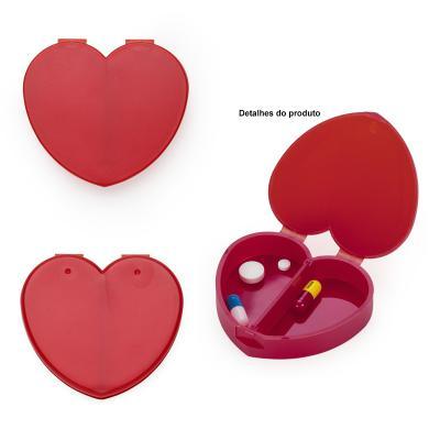 Porta Comprimido Plástico de Formato Coração 1 - Allury Brindes