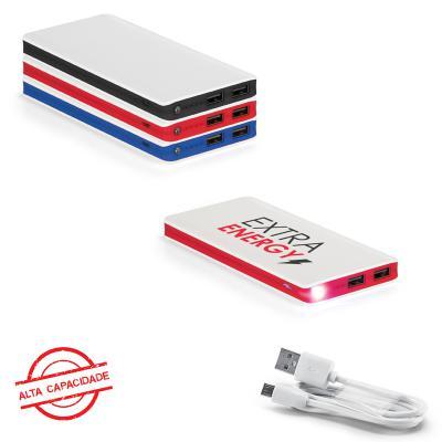 Carregador Power Bank Bateria Portátil ABS. com Led 11.000 mAh 1 - Allury Brindes