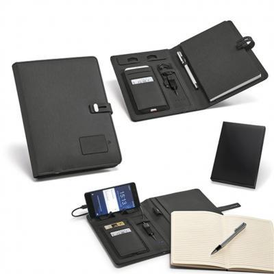 allury-gifts - Pasta A5 com Carregador Power Bank Bateria Portátil 1