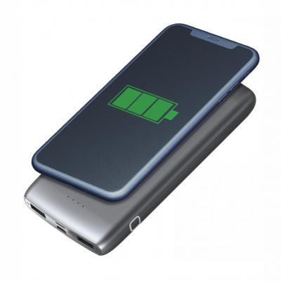 Allury Brindes - Carregador Power Bank bateria por indução 12000mAh 1