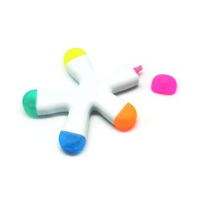 Allury Brindes - Caneta Marca Texto Splash com 5 Cores 1