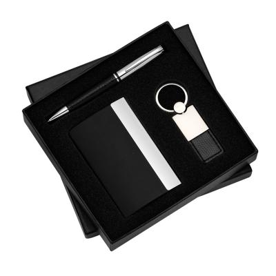 allury-gifts - Conjunto com 3 pçs Porta Cartão, Caneta e Chaveiro 1