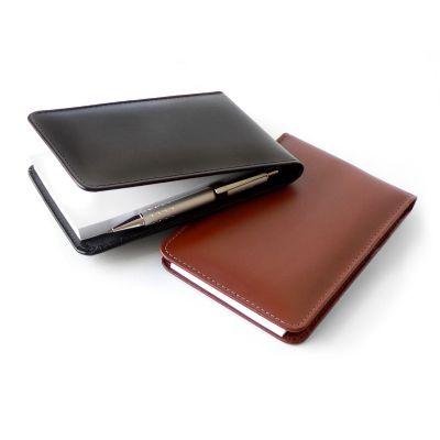 laeder-couro - Bloco de anotações com capa em couro e cores diversas