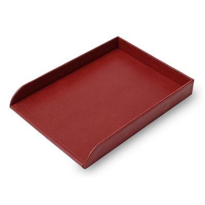 Laeder | Couro - Caixa de entrada ou saída em couro vermelho.