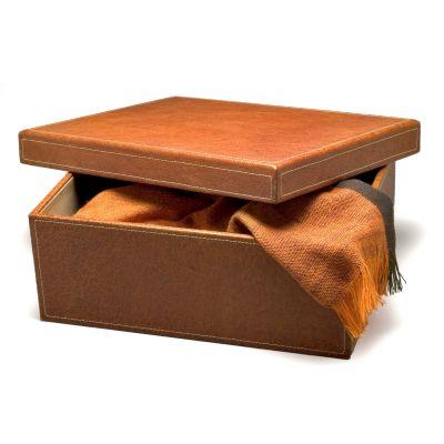 Laeder | Couro - Caixa em couro whisky.