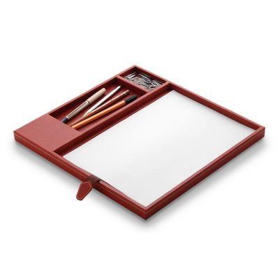 laeder-couro - Caixa organizadora para mesa de reunião em couro