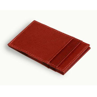 Laeder | Couro - Carteira Magica em couro vermelho.