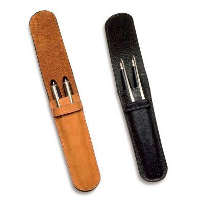 Porta-canetas em couro