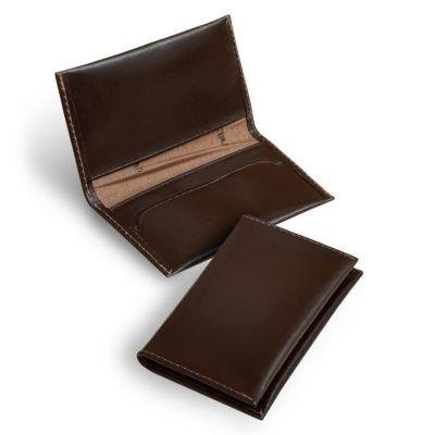 laeder-couro - Porta-cartões em couro marrom