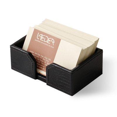 laeder-couro - Porta-cartões de mesa em couro.