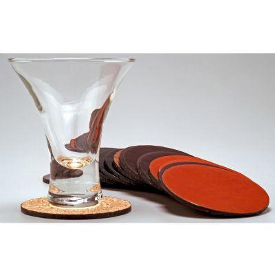 Laeder | Couro - Porta-copos em couro com costura opcional.