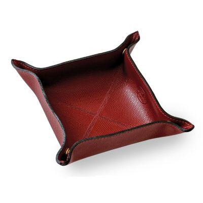 laeder-couro - Porta-treco em couro, organizador para guardar objetos