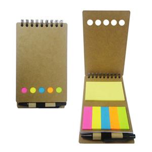 Brindes Ponto A - Bloco de notas ecológico com adesivo e mini caneta.