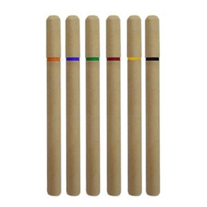 Brindes Ponto A - Caneta ecol�gica com tampa e detalhe em pl�stico.