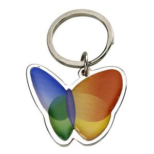 Brindes Ponto A - Chaveiro de metal com formato de borboleta.
