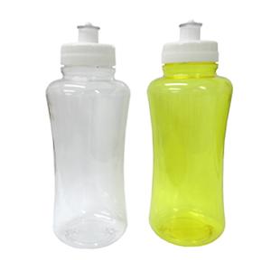 Brindes Ponto A - Squeeze feito de garrafas pet recicladas. Tampa com rosca e válvula de cristal. Em diversas cores transparente. Capacidade: 500 ml
