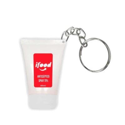 Chaveiro bisnaga com álcool gel 70 - capacidade 35 ml
