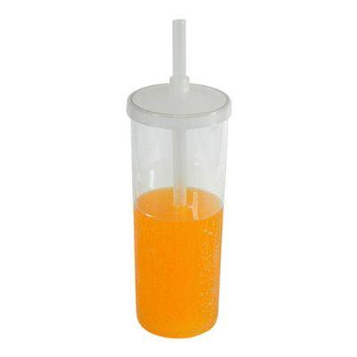 Essence Brindes - Material: Plástico PS cristal Capacidade: 330 ml Medidas: 6,3 cm de diâmetro (boca), 5,8 cm de diâmetro (base) e 21 cm de altura Peso: 50 gramas Embal...