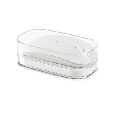 Essence Brindes - Mouse wireless com caixa transparente