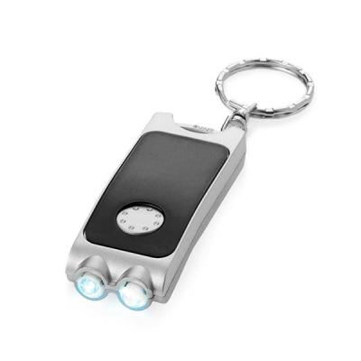 qualy-brindes - Chaveiro. PP. Com 2 LEDs. Incluso pilhas. 25 x 65 x 11 mm