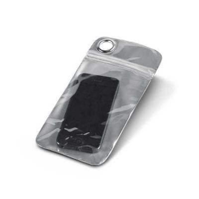 Bolsa para celular. PVC. Impermeável (não aconselhável imersão). Permite utilização touch. Para smartphone 5.5''. 100 x 220 mm - Brindes Qualy