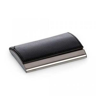 Porta-cartão de metal inox