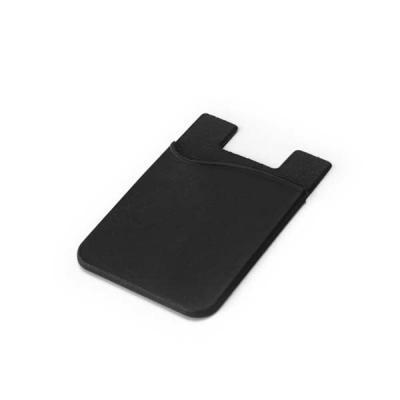 qualy-brindes - Porta cartões para celular. Silicone. Com autocolante no verso. 57 x 87 x 3 mm